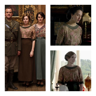 Downton Abbey's Sybil and Edith Crawley in the same blouse