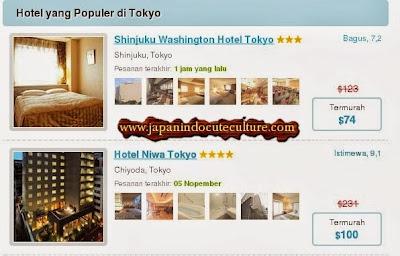 peringkat hotel jepang, harga termurah dan foto hotel maupun fasilitasnya