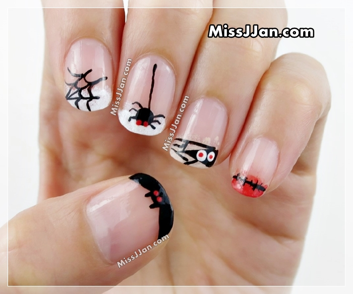 Missjjans Beauty Blog Halloween Nail Art Part 2 5 Cute And