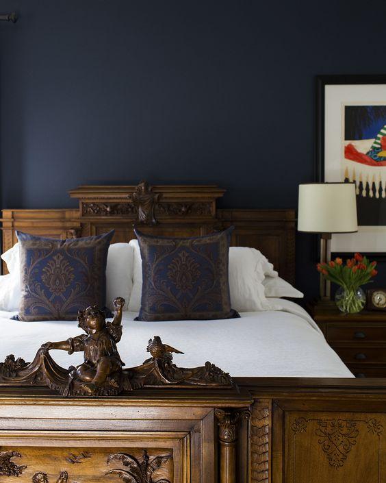 Inspiration For My Midnight Blue Bedroom