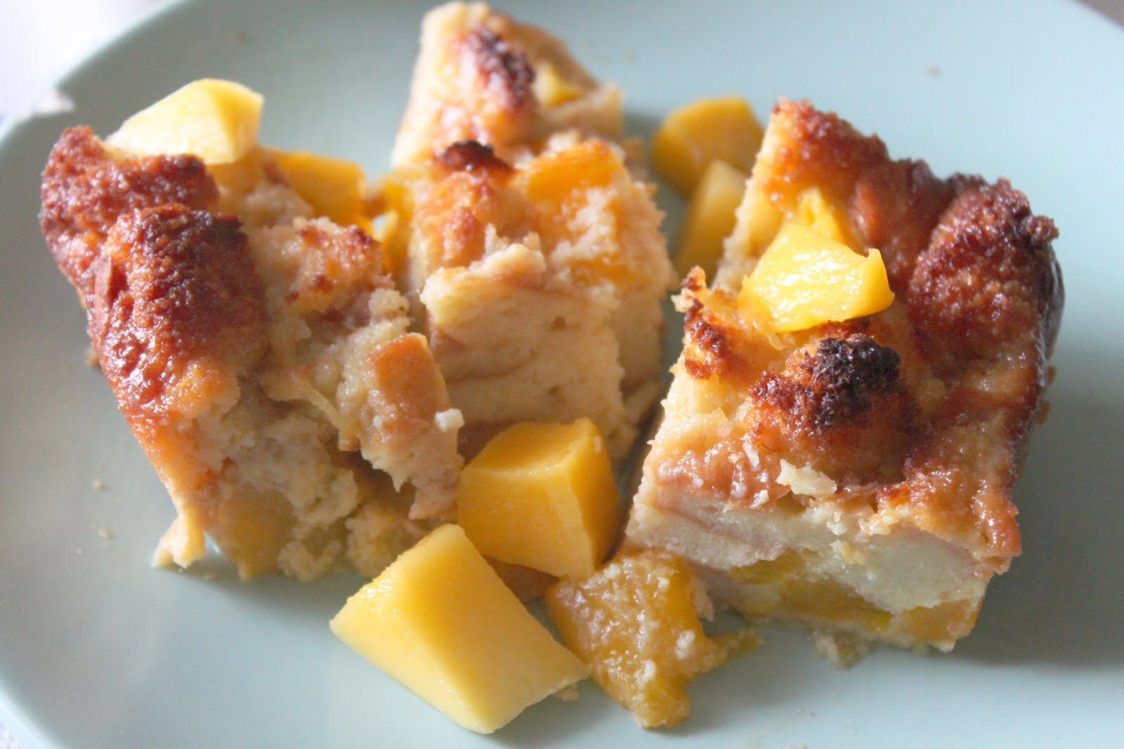 Velvet Moss: Mango Bread Pudding...Perfect End of Summer ...