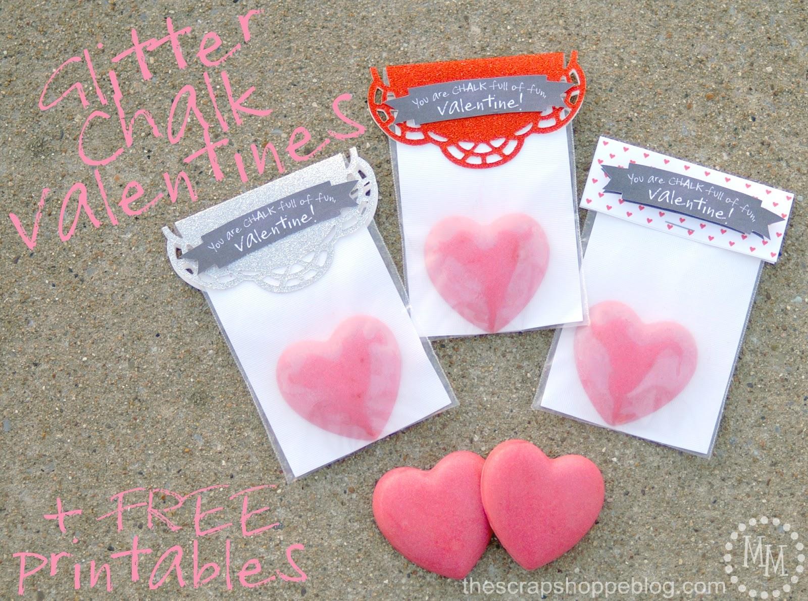 Homemade Glitter Chalk For Valentineu0027s Day