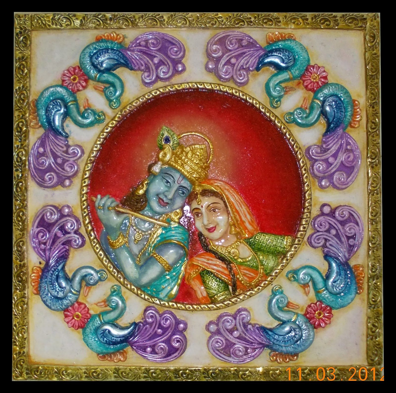 Mural art by datta vaidya ceramic furniture mural madv fm 1 for Ceramic mural painting