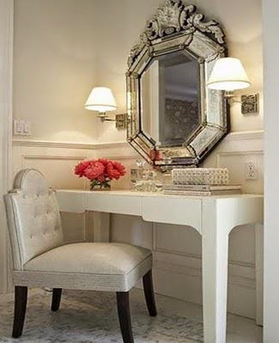 contemporary dressing table layout