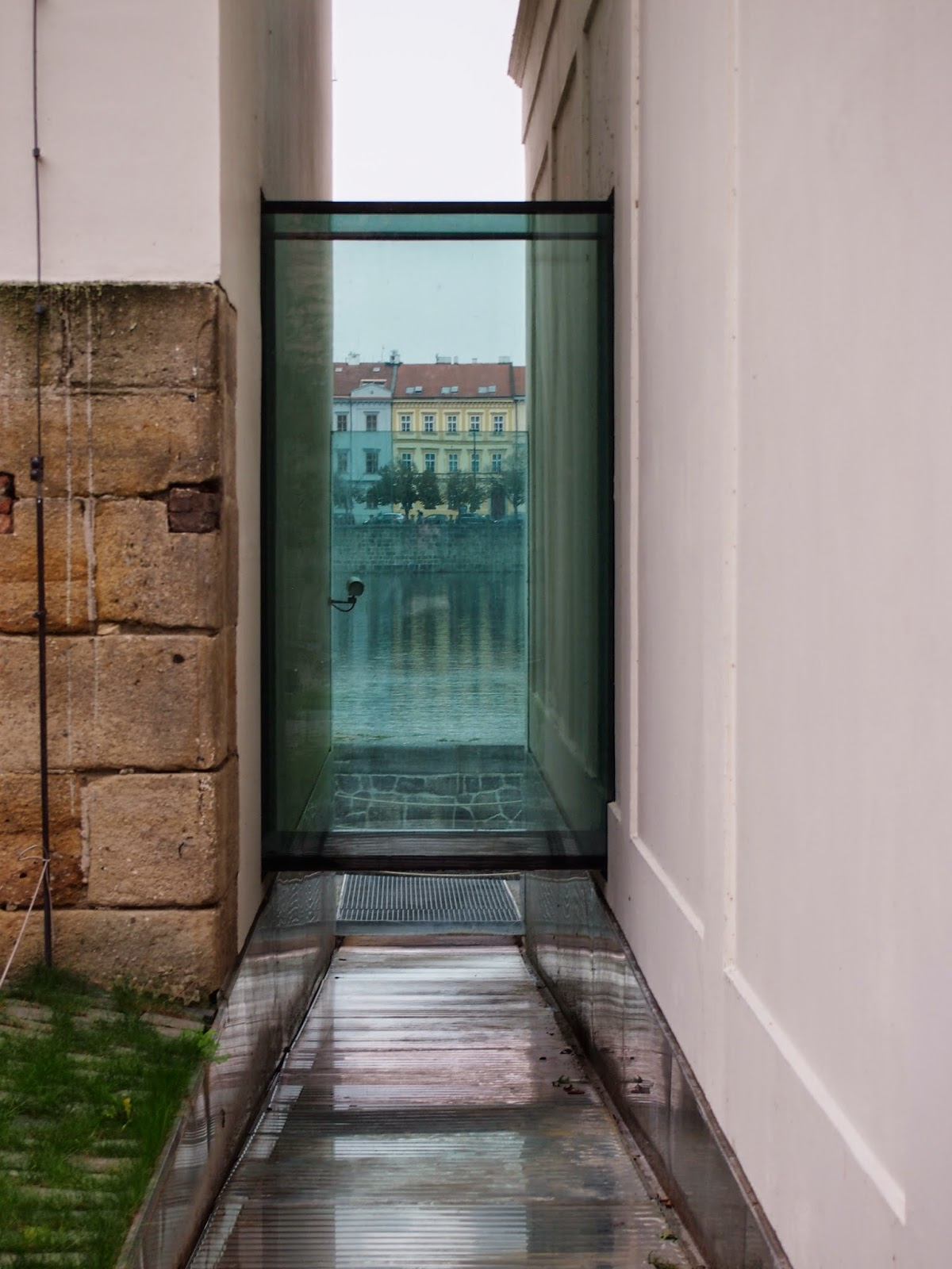 glass view at the kampa museum in prague
