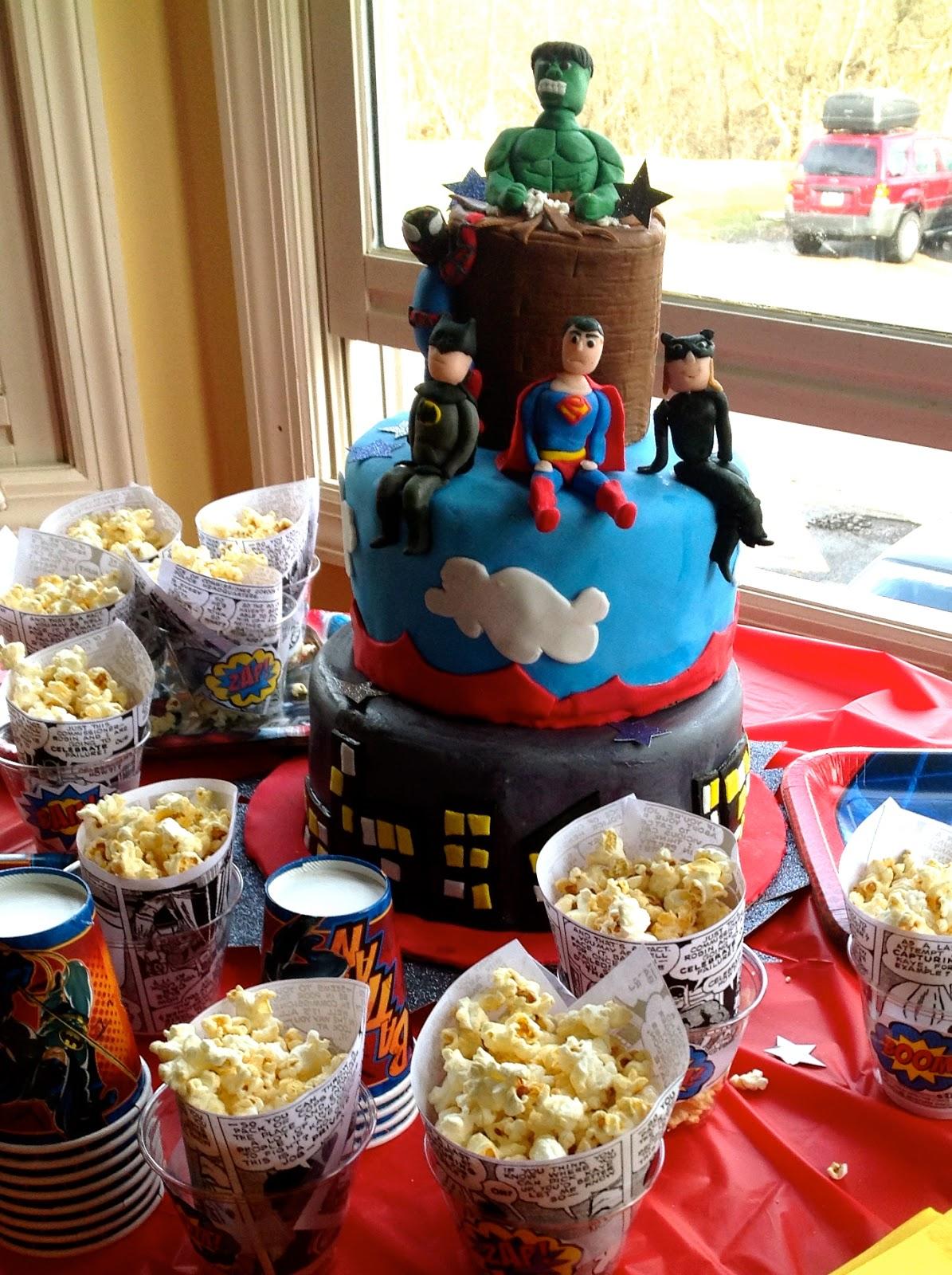 The Crafty Homeschool Mama }: Superhero Birthday Party: Cake and