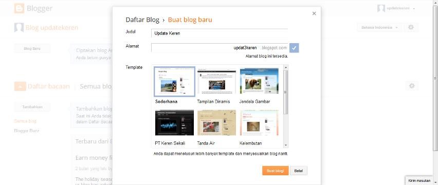 cara mendaftar blog baru