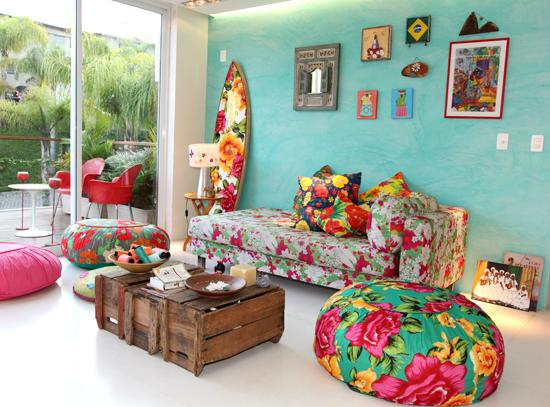 Chita na decoração