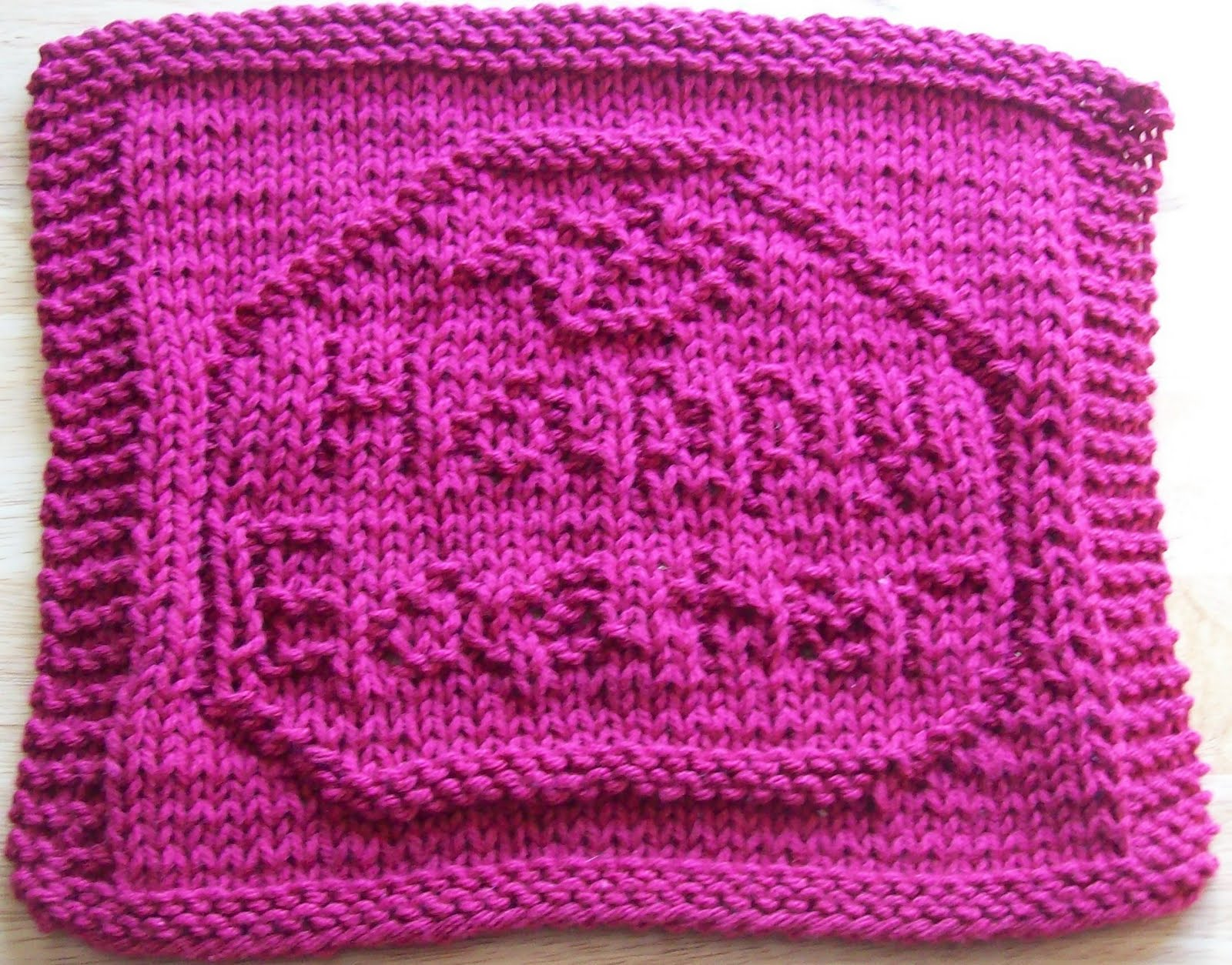 Knitted Dishcloth Patterns For Easter : DigKnitty Designs: Happy Easter Egg Knit Dishcloth Pattern