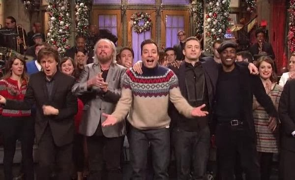 this week episode on saturday night live celebrated a christmas eve saw jimmy fallon returned to the show as host with musical guest justin timberlake