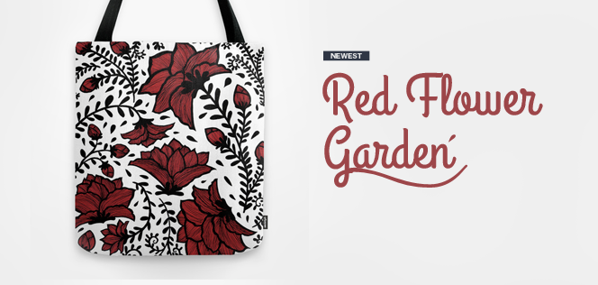 Newest - Red Flower Garden by Haidi Shabrina