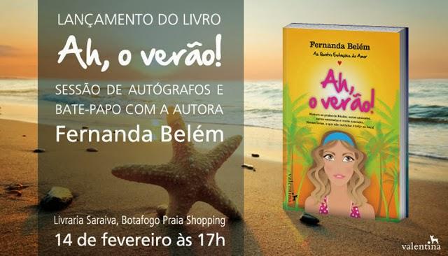 Lançamento livro Ah, o Verão! Fernanda Belém Editora Valentina