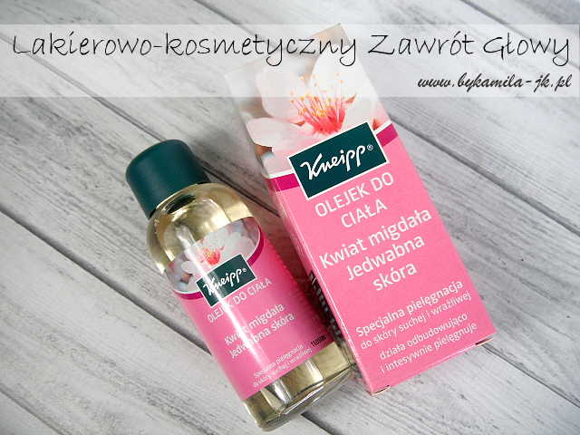 naturalny olejek do ciała Kneipp Kwiat migdała