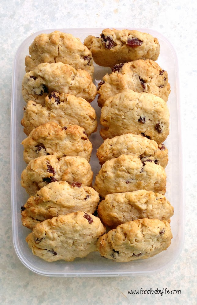 Sultana Oat Biscuits © www.foodbabylife.com