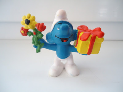 Flower and Gift Smurf Figure
