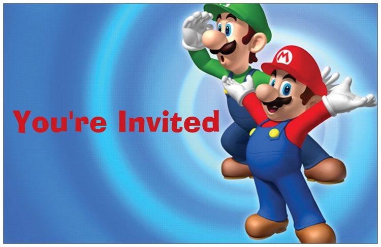 Events By Tammy Jays Super Mario Brothers Birthday Party – Mario Bros Birthday Invitations