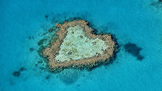 heart reef, coral, island, indah is beauty, amriholiday, valentine, love, couple, romantic island , wedding, Beautiful Holiday Destinations