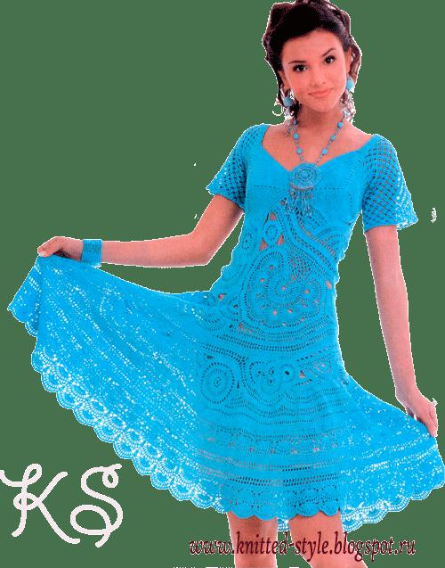 Летнее платье в технике фриформ