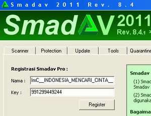 Share Name Key Smadav Pro 8.4 Maret 2011 100% Work