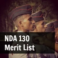 nda 130 merit list