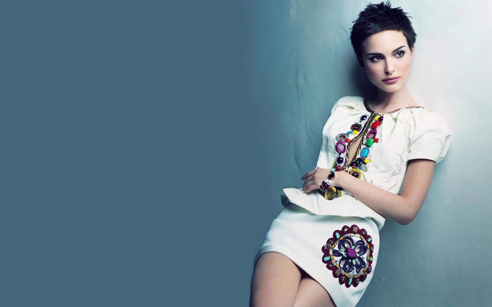 Natalie Portman Short Hair Wallpaper HD