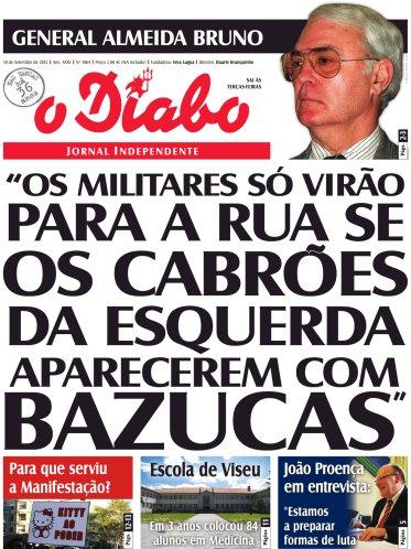 General Almeida Bruno no Jornal o Diabo