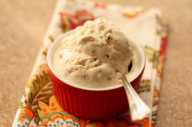 Caramelized Coconut Pecan Ice Cream recipe by Barefeet In The Kitchen