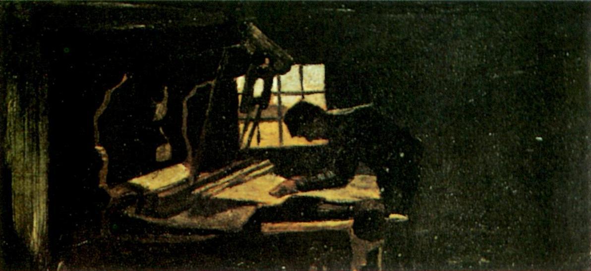 Weaver Arranging Threads (F 32, JH 480) by Vincent van Gogh