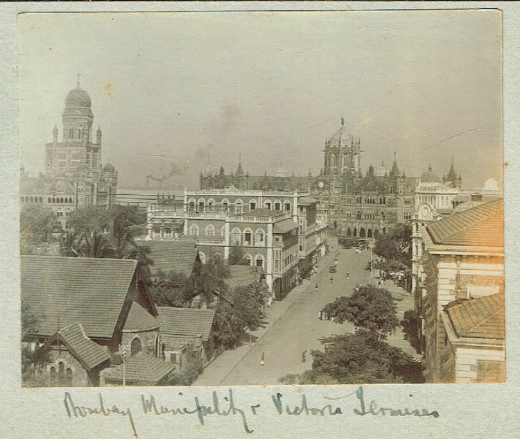Bombay Municipality and Victoria Terminus Railway Station c1909