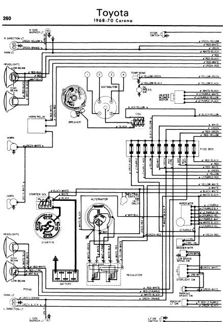 repair manuals toyota corona 1968 70 wiring diagrams