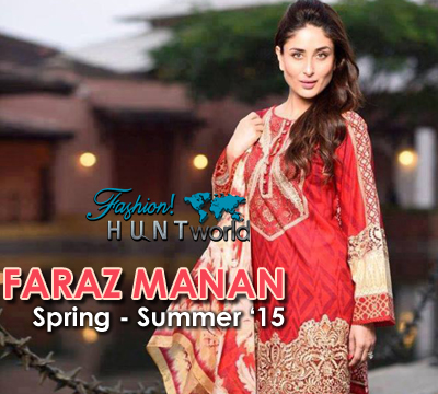 FARAZ MANAN - Spring Summer 2015 Crescent Lawn