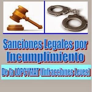 sanciones de la LOPCYMAT 1