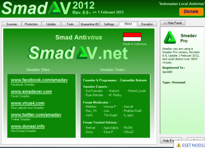 Download Smadav 2012 Rev 8.9 Pro + Key