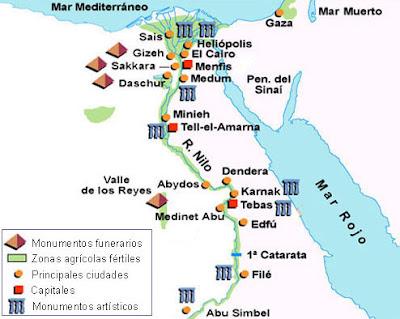 Egipto mapa turismo