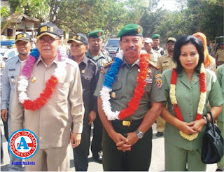 TNI Manunggal Membangun Desa di Kecamatan Lambu Berjalan Sukses