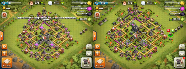 clash of clans glitch