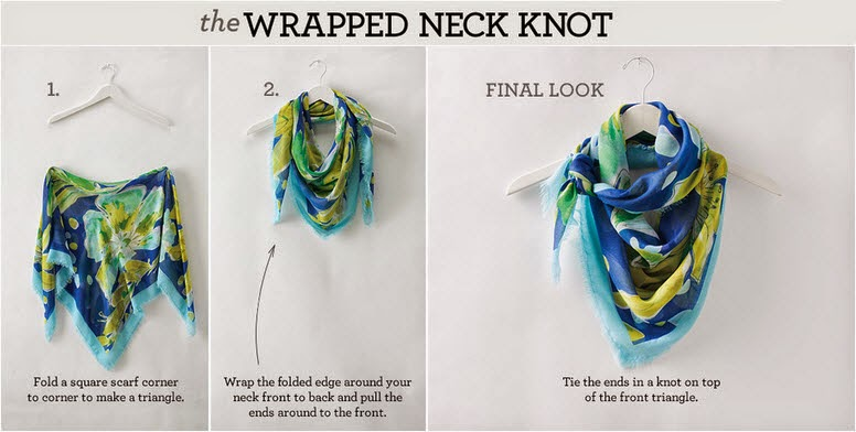 How to tie a scarf in a wrapped neck knot