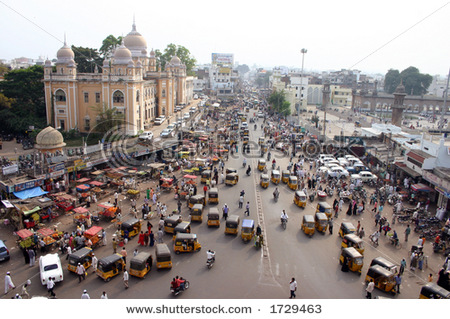 over crowded indian roads