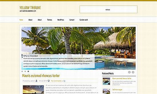 Download Yellow Magazine WordPress theme