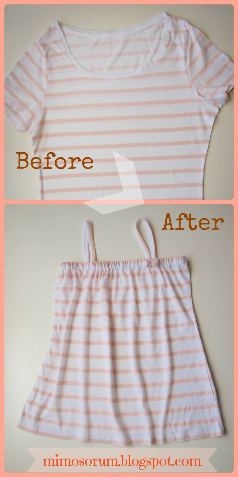 Mimosorum convertir una camiseta en un vestido make a for Make a dress shirt