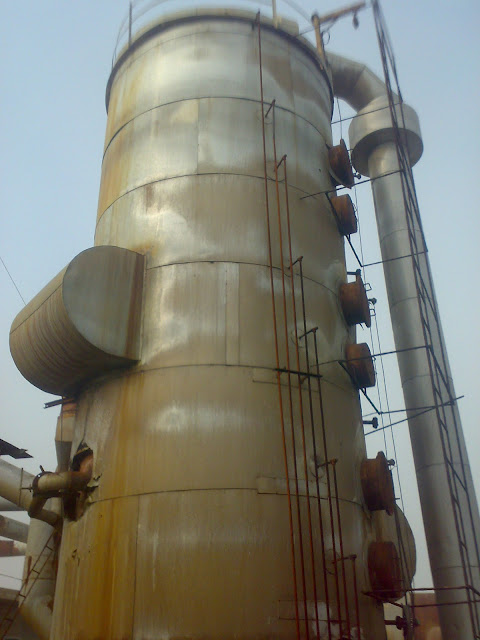Sulfuric Acid Plant in Pakistan 100 Metric ton daily production by contact process single absorption, image by irfan ahmad plant operator, convertor