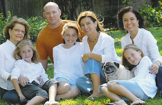 Photo of Mary's children and grandchildren