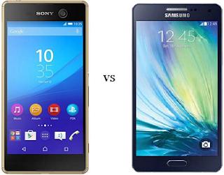 perbandingan samsung galaxy A8 vs Sony Xperia M5 Dual