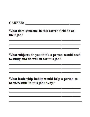 career kids resumes | Template