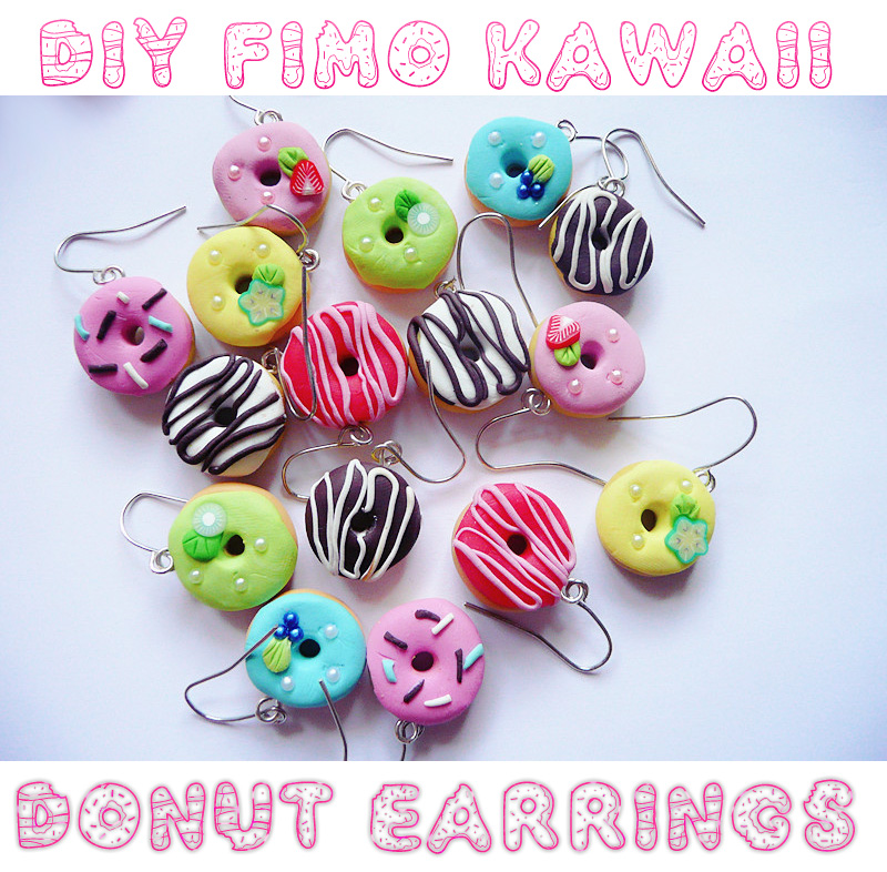 DIY: Fimo Kawaii Donut Earrings - Kaowaii Blog