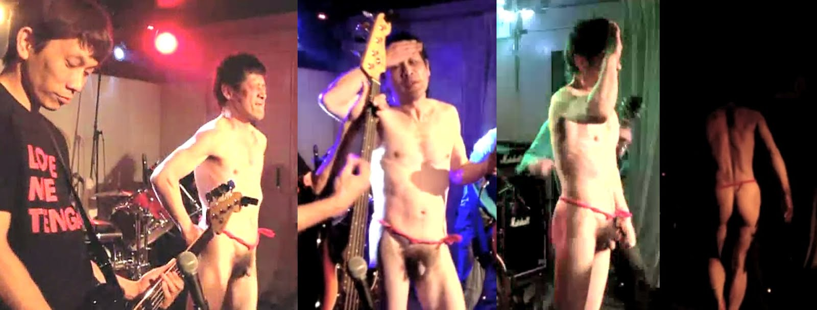 Performance male naked nude