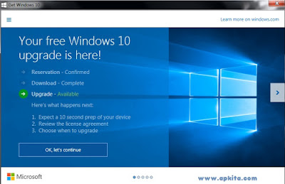 Reserve Upgrade Windows 10