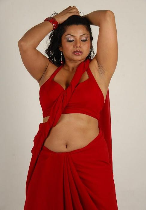 swathi varma ,armpit in red saree glamour  images