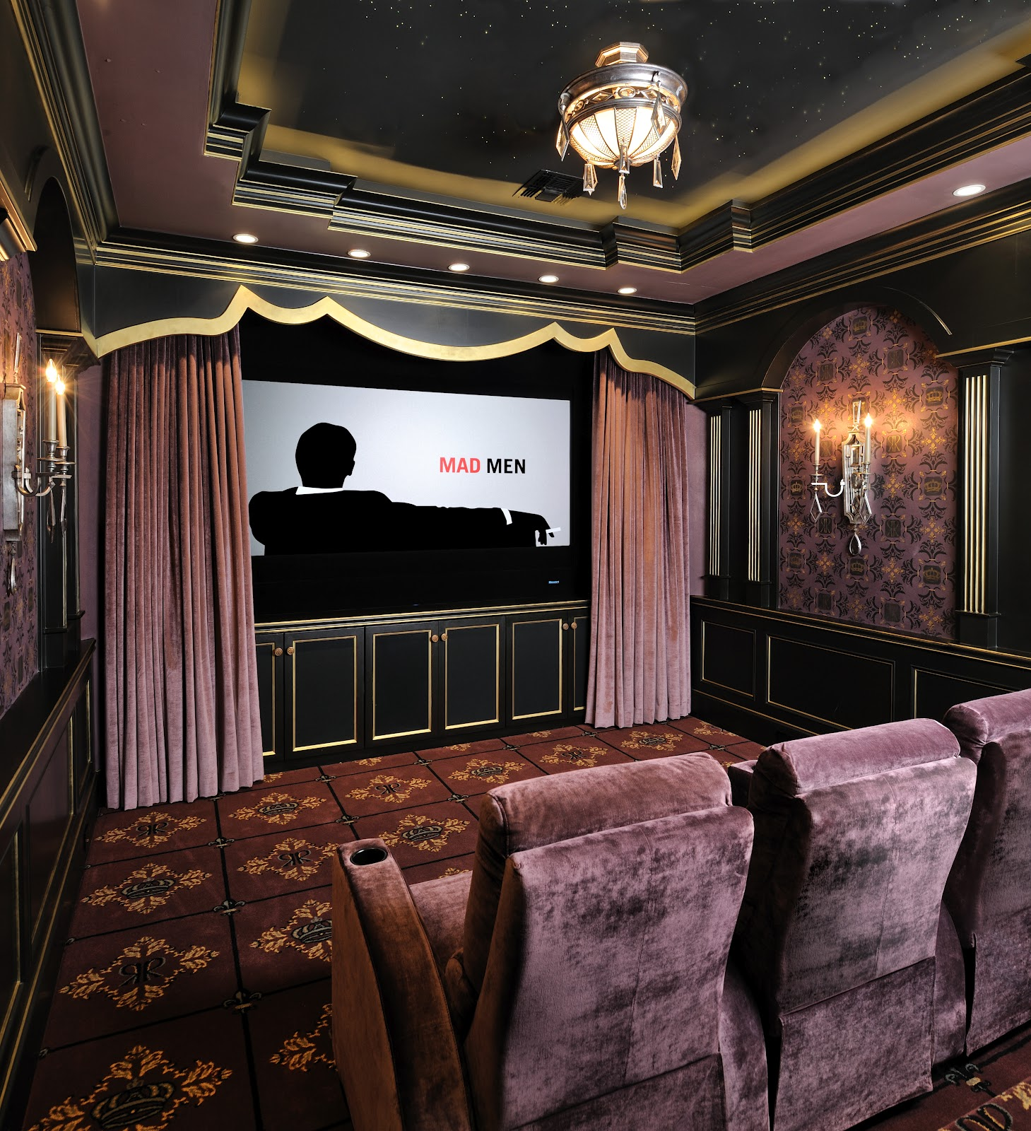 Not Just Plain Jane Faux A Dramatic Statement - Home theater design group