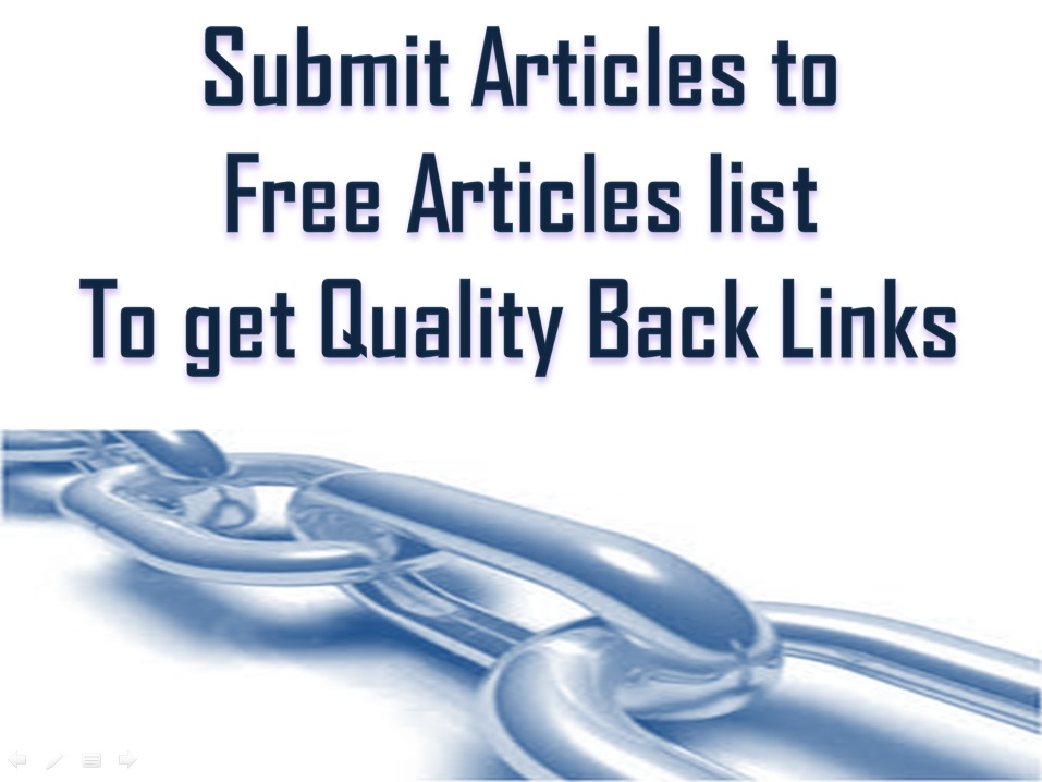 Free Article Submissions List